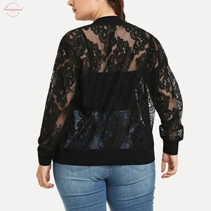 Womens Solid Casual Lace Loose Shawl Cardigan Cover Up Plus Size Long Sleeve Women T Shirts Blusas Mujer De Moda New Hot
