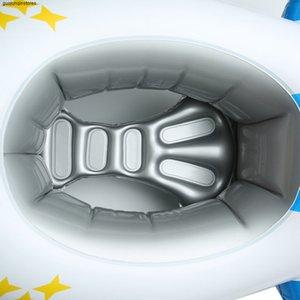Pour enfants Anneau de natation pour enfants Big Airplane natation ring avec volant Seat épais rembourré Bateau gonflable Avion Natation T