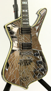 Loja Personalizada Ps2cm Roxo Gold Sliver Rachado Espelho Iceman Paul Stanley Guitarra Elétrica Abalone Creme Body Binding, Abalone Pearl Inlay