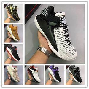 2019 Billig Verkauf Jumpman 32 XXXII Triple Black Weiß Lila Männer Basketball-Schuhe für Qualitäts-Herren-Schuhe 32s Trainer Sport-Turnschuhe