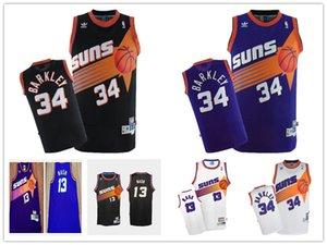Steve Nash Charles Barkley PhoenixSunsMEN HardwoodClassics Swingman Home basketball Jersey