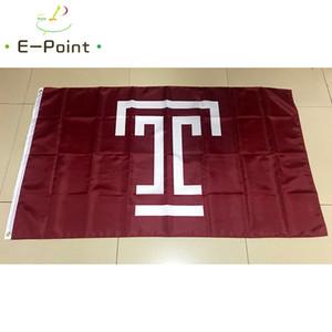 Drapeau de la NCAA Temple Owls polyester Drapeau 3ft * 5ft (150cm * 90cm) Drapeau Bannière décoration voler la maison gard
