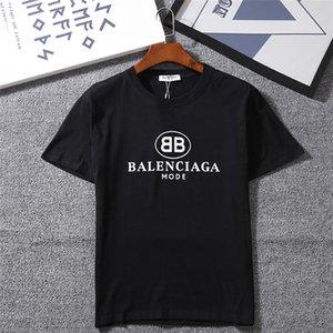 2020 2020 Новая мода женская мужская футболка с бренд Письмо печати t-рубашки мода дизайнер топ тройники с коротким рукавом свободного покроя футболка s-2XL с NNT6