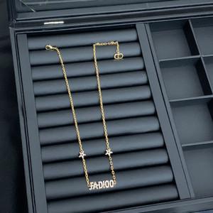 D home letter star bracelet female Dijia High version five-pointed star rhinestone necklace