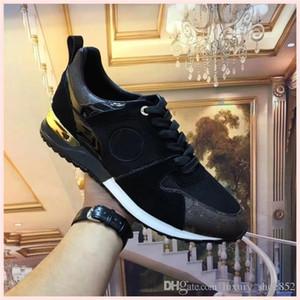 Los hombres baratos de los zapatos ocasionales de lujo barato Mejor alta calidadPlataforma del Partido designerMens moda zapatillas de deporte zapatillas de deporte zapatos de terciopelo Chaussures d01