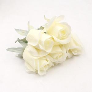 İpek Lale Çiçek Başkanı Ana Düğün Dekoratif Aksesuarları Simülasyon Simüle Yapay Çiçek Gerçek Dokunmatik Çiçek