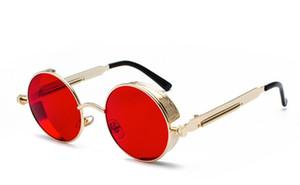 New Fashion Steampunk Sonnenbrille Männer Frauen Markendesigner Driving Band Shades Lunette Occhiali Gardient Persönlichkeit Sonnenbrille Online
