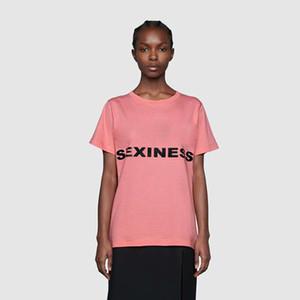 20s diseñador de ropa mujeres de la camiseta de manga corta de lujo hip hop camiseta tops letra de la impresión del punk Verano Negro blanco de algodón del monopatín camisetas casuales