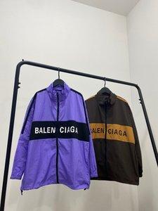 İlkbahar ve Sonbahar 2020 Kadınlar İnce Ceket Moda Yenilik Spandex Kumaş Gevşek Nefes Kontrast Renk Dikiş M-XL Çift ceketler