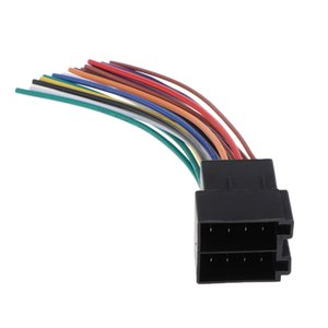 Stereo Male ISO nua End Adpater fio conector Car Radio PARA Beetle