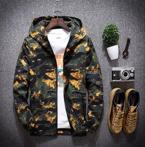 Estate Autunno giacca mimetica uomini giacche a vento della tuta sportiva a maniche lunghe Streetwear Hip Hop Designer Mens Jackets
