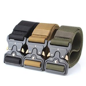 Tactical Belt Nylon Belt Metal Buckle tactical Camping outdoor equipment Adjustable Heavy Training Belt Hunting Accessories