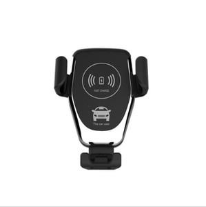 C12 Car Charger sem fio 10W rápida sem fio carregador de carro Mount Air Vent gravidade Phone Holder Compatível para Samsung LG Todos Qi Devices DHC57