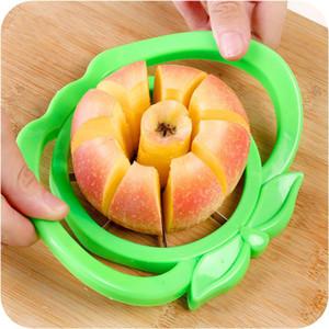Cocina de la herramienta de corte en forma de manzana lámina del acero inoxidable máquina de cortar la manzana fruta de la pera divisor herramienta de Apple Peeler Vegetable Slicer