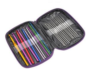 Алюминиевые крючки иглы набор многоцветные вязать ткать ремесло пряжа швейные инструменты крючки вязальные спицы SN1898