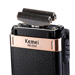 Kemei Electric Shaver Twin Blade Reciprocating Cordless Razor Hair Beard Shaving Machine Barber Trimmer USB Rechargeable toptrimmer oVnZd