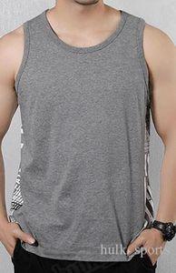 86Summer sport senza maniche e gilet di fitness uomini sciolti T del cotone della camicia in esecuzione in basso abbigliamento tendenza giubbotto outsidse abbigliamento comodo 50