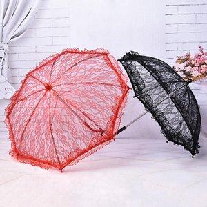 Lace Umbrella elegante Stage Performance del merletto del ricamo Ombrelli Damigella d'onore ombrello per decorazione della festa nuziale 7styles RRA1639