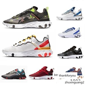 Men Women React Element 87 55 Undercover Running Shoes mesh Breathable chaussure homme Black White black pink red Designer Sports Sneakers