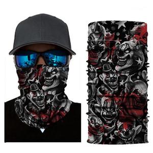 Máscara diseñador de impresión sin problemas magia turbante a caballo Summer Collar Protector solar toalla de cara deportes al aire libre Hombres Mujeres