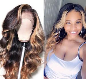 2020 nueva moda delanteras Humanos pelucas del pelo del cordón Densidad pelucas del frente del cordón de la onda del cuerpo brasileña del frente del cordón del pelo de Remy