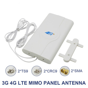 700 ~ 2600mhz 88dbi 3G 4G LTE Antena Móvel Antena 2 * SMA / 2 * CRC9 / 2 * TS9 Male Connector Bo-oster Mimo Painel Antena + 2 Metros