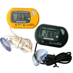 HT-6 LCD étanche Digital Fish aquarium Reptile Thermomètre de température d'eau compteur plante vivant Noir / Jaune