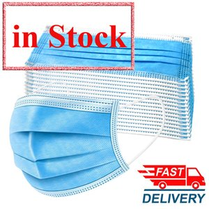 10/20/40 / 100pcs 3 Camadas Boca Mask Máscara Facial Homens Mulheres Anti Poeira não-tecidos descartáveis pano Melt Blown