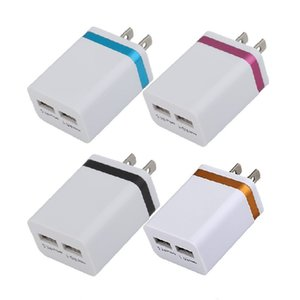 2.1A Wall Charger Plug US EU Dual USB 2 Port AC Power Adapter 2 ports All Phone for Samsung HTC