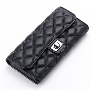Charm2019 Ma'am Sheepskin Long Fund Guangzhou Genuine Leather High Archives Monedero con seguro