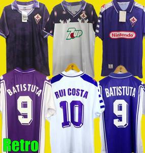 Ретро 1992 93 1998 1999 2000 Fiorentina Футбольные трикотажки 98 99 Fiorentina Maillot Batistuta Rui Costa Vintage Home Футбольная рубашка CamiSas