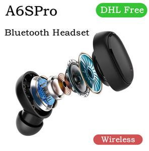 무선 블루투스 이어폰 A6SPro TWS Biaural 멀티 기능 디자인 소음 취소 모션 헤드셋 유니버설 I12는 M6PLUS DHL에서 주식을 i9s