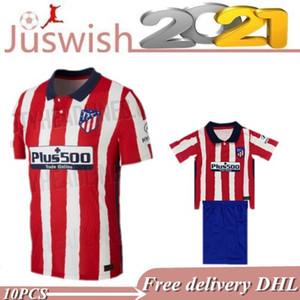 20-21 new #7 JOÃO FÉLIX Soccer Jerseys 2021 Men Kids Atletico KOKE Madrid SAÚL CORREA THOMAS LEMAR Shirts Camiseta De Fútbol 2020