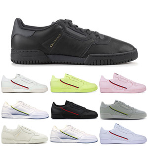Adidas Boost Powerphase Calabasas Continental 80 Scarpe Casual Triple Bianco Nero Rosa Giallo Donna Uomo Trainer Sport Outdoor Sneakers Drop Shipping