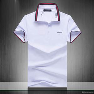 Primera marca Polo bordado camisa del verano para hombre de las camisetas del polo estilo de la moda Camisa para Hombre Mujeres Calle Arriba Tee42
