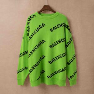 Luxo Desig Camisolas para mulheres dos homens Autumn Marca Cardigan Sweater Coats com Cartas Padrão Moda Mens Camisolas Tops Roupa S-3XL