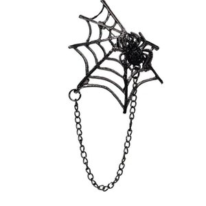 Halloween new European and American creative brooch fashion personality diamond spider brooch clothing accessories jewelry 4.8x9cm