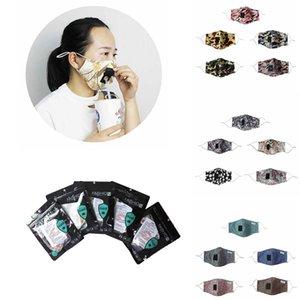 Design Masques visage peuvent être Inséré Masques de paille pour adultes hommes et femmes Classique Respirant Imprimé coton Lavable Masques anti-poussières de XD23649