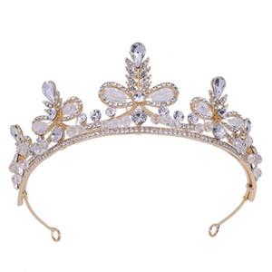 2019 New Wedding coreano Wedding Crown Queen Sparkling Rhinestone Atmosphere Exquisite Full Diamond Crown Wedding testa ornamento