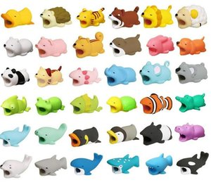 36 Phone Cable Protector For Phone Charger Cable Bite Cute Animal USB Charger Data Protection Cover Mini Wire Cord Accessories Creative