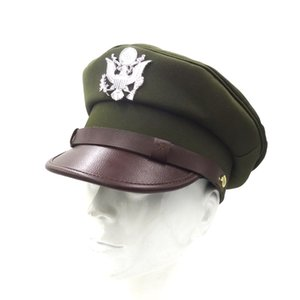 WWII WW2 US Air Force USAF Officer Cap Hat With Silver Color Badge Air Force Cap in size
