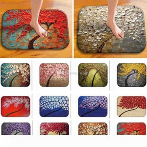 Tree of Life Flower DoorMats Flannel Non-Slip Indoor Outdoor Floor Mat Carpets For Home Decor Kitchen Mats 40*60cm WX9-520