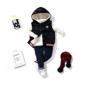 Crianças colete quente crianças algodão espessamento com capuz de veludo ouro colete de algodão novo casaco de caxemira de cordeiro infantil