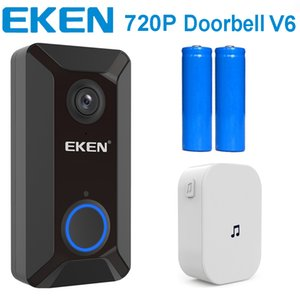 EKEN V6 720P WIFI Kapı Diyafonu Ana Kapı Bell Chime Wireles görsel kapı zili Bulut Depolama Gerçek Zamanlı Çift Yönlü Ses Gece Görüş APP Kontrolü