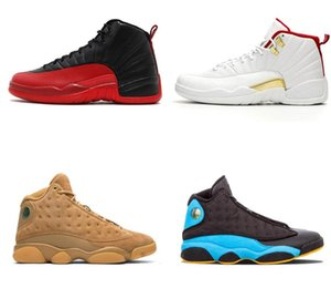Nike Air Max Retro Jordan Shoes  12 13s баскетбольной обуви для мужчин 12s ФИБА Буллз Hot ИОРДАНИЯ NakeskinИорданияРетро Перфорация 13 Flint волк серый Мужская Спортивная обувь