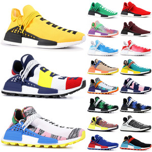 NMD Хумэнь Race Pharrell Williams Бойз Клуб Mult Цвет Солнечный пакет Мать Clear Sky White Chaep мужские Дизайнерская обувь Кроссовки Кроссовки