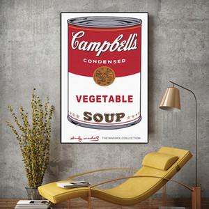 Modern Wall Art Andy Warhol Gemüsesuppe Pop-Art Leinwand-Malerei Abstrakte Kunst Wandbilder für Wohnzimmer 191004