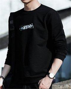 Harf Baskı Kapüşonlular Erkek Genç Düzenli Uzunluk Casual Tişörtü O Yaka Uzun Kollu Tişörtler Erkekler Tasarımcı