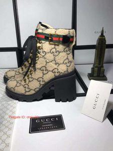 Chic Branded Frauen Verglaste Leder-Knöchel Martin Stiefel Thick GummiOutsole Chunky Heel-Sterne-Trail Stiefel Größe wirklich