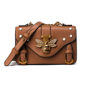 Designer Luxury Handbag Crossbody Bag for Women Leather Luxury Handbag Bag Designer Ladies Shoulder Bag Sac A Main Fashion Bee Decoration
